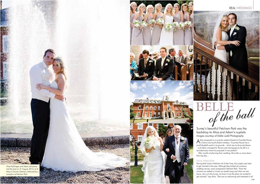 Published: Your Surrey Wedding Magazine Feb/March 2014 { wedding photography, Surrey }