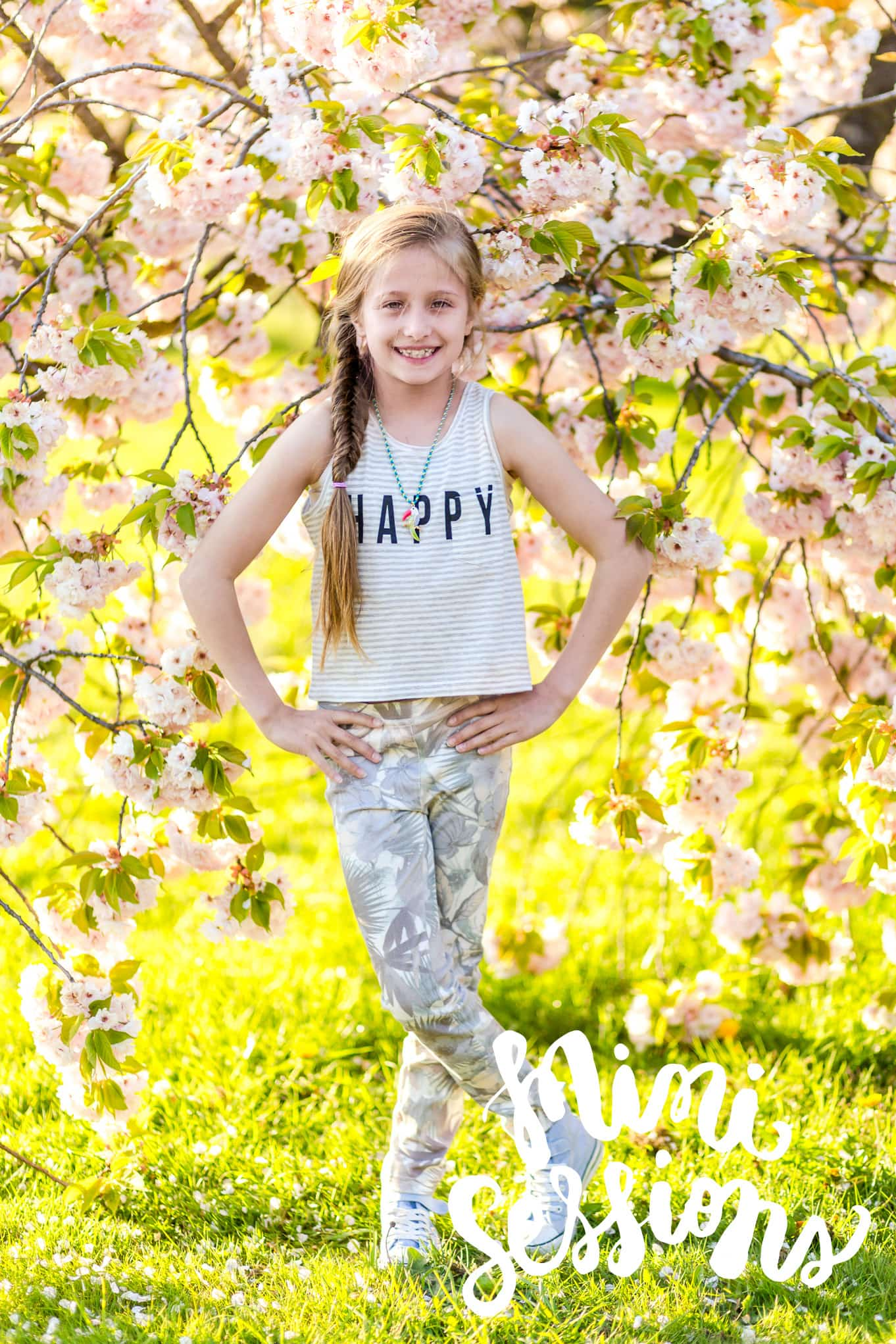 Cherry Blossom mini sessions { family photography Weybridge }