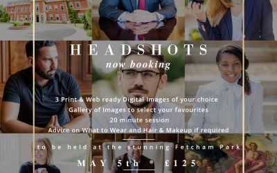 Headshot sessions at Fetcham Park