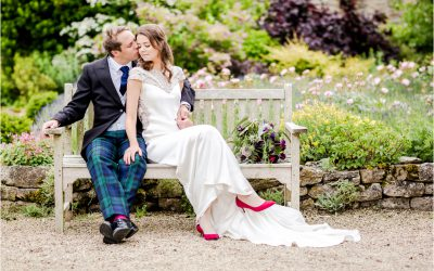 Oli and Esme's summer wedding at Caswell House