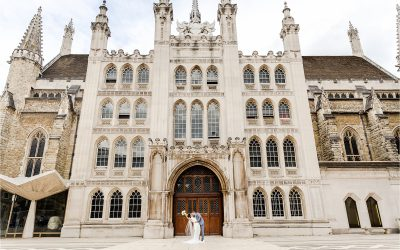 Katie and Michael's City wedding, Guildhall London